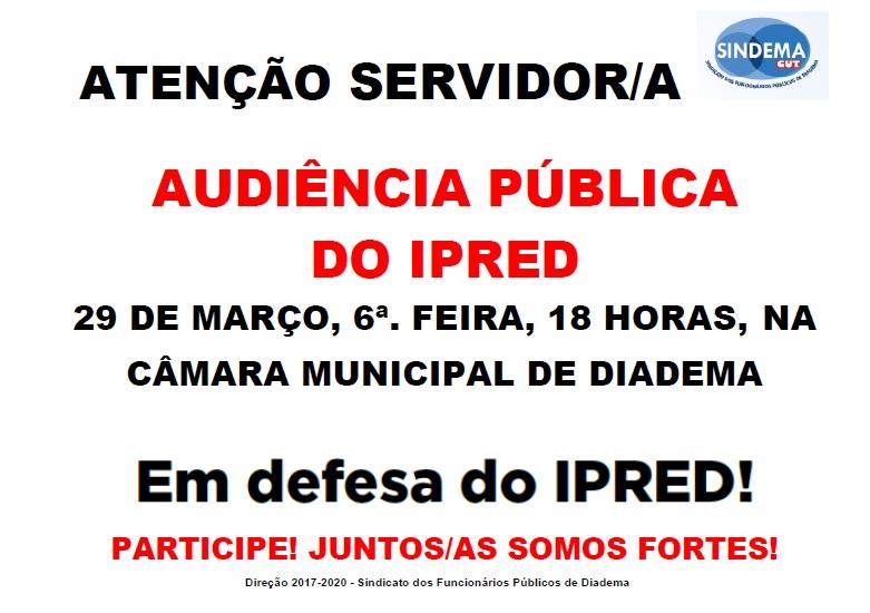 Audiência Pública do IPRED