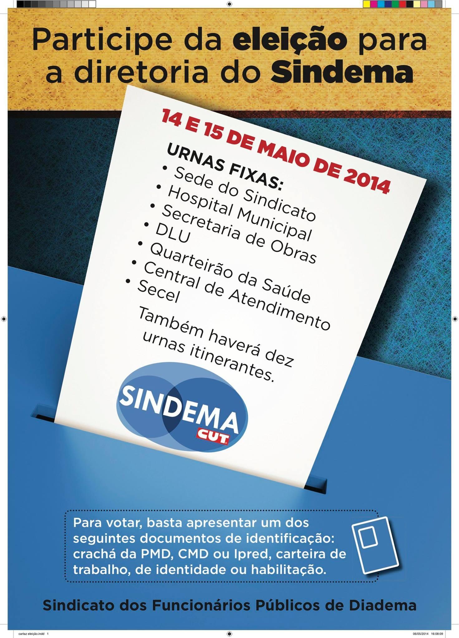 Eleição para diretoria do Sindema