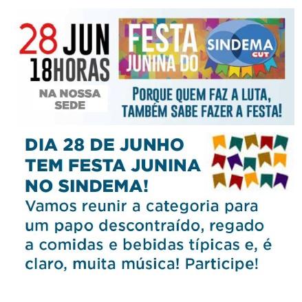 Festa Junina  SIndema 2019