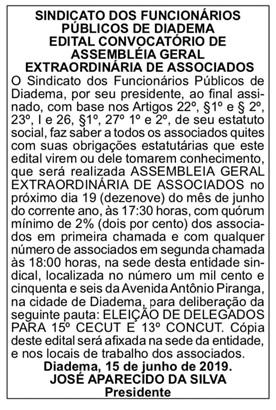 Assembleia Associados/as Sindema  - Delegados/as CECUT CONCUT