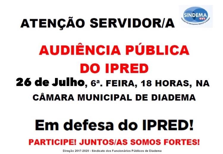 Audiência Pública do IPRED