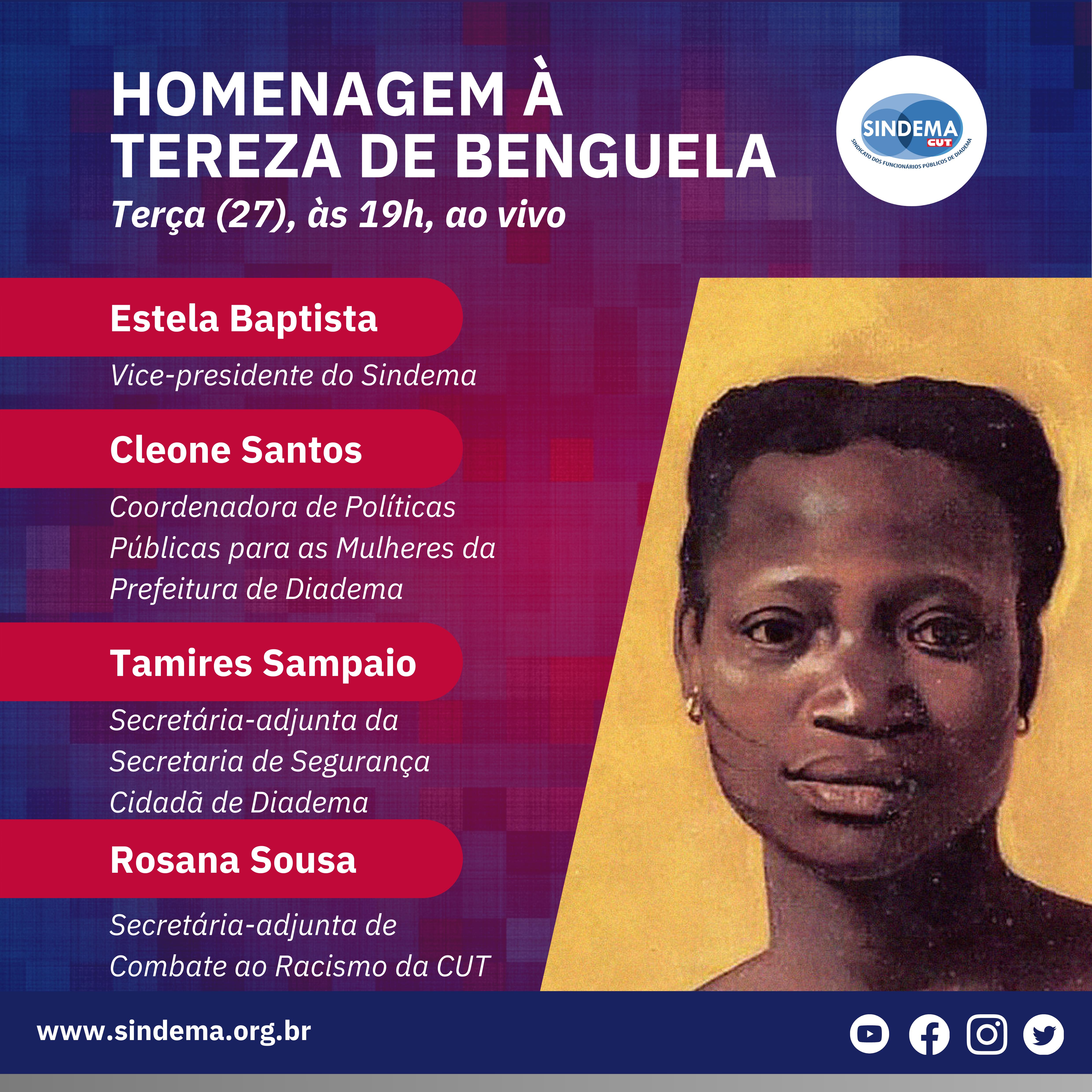 Live em homenagem à Tereza de Benguela.