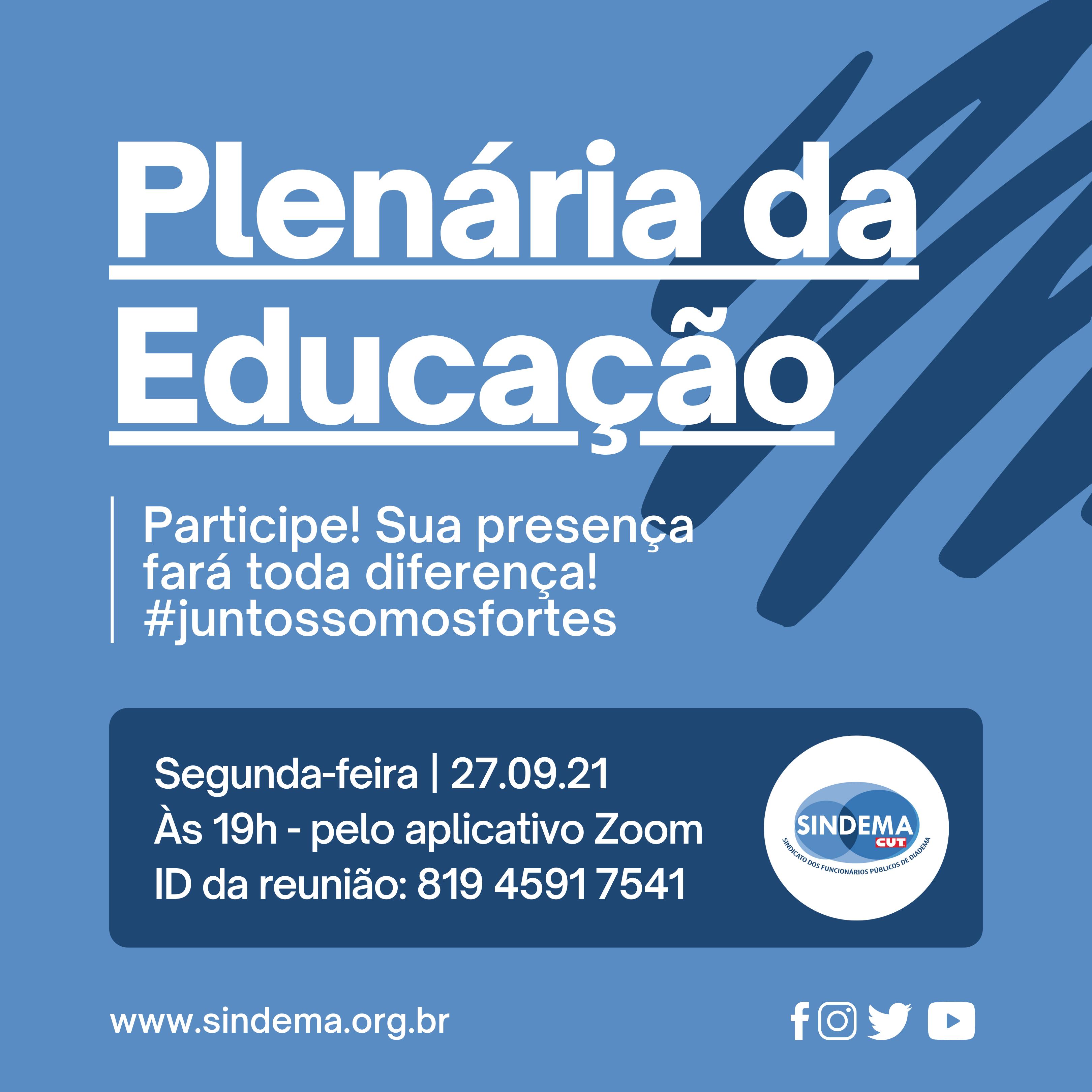 Plenária da Educação.