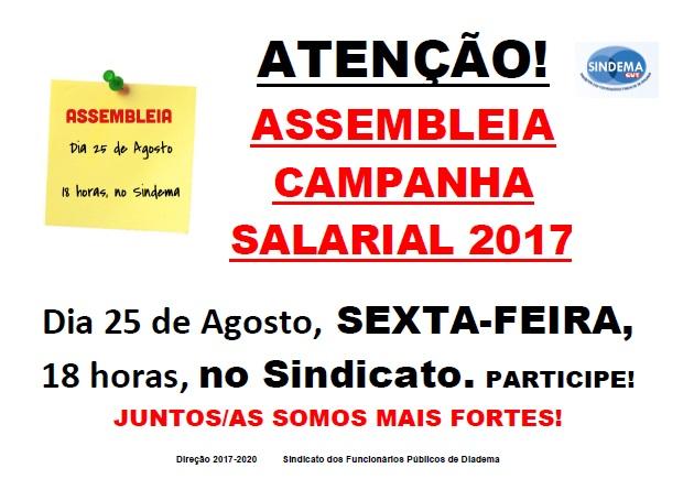 Assembleia Campanha Salarial 2017