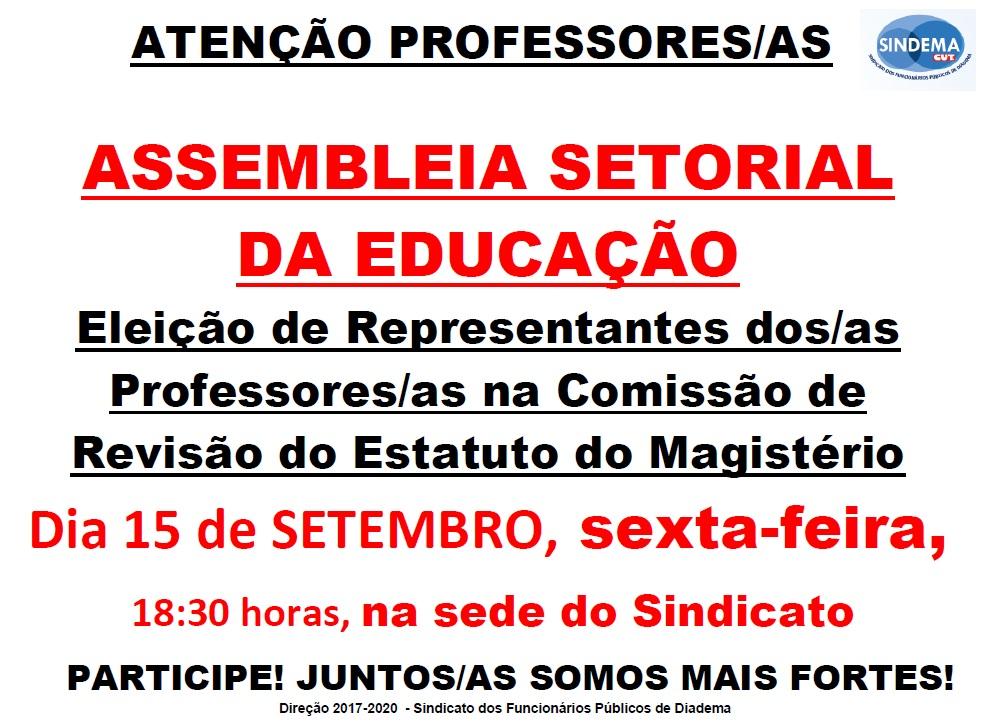 Assembleia Setorial da Educação