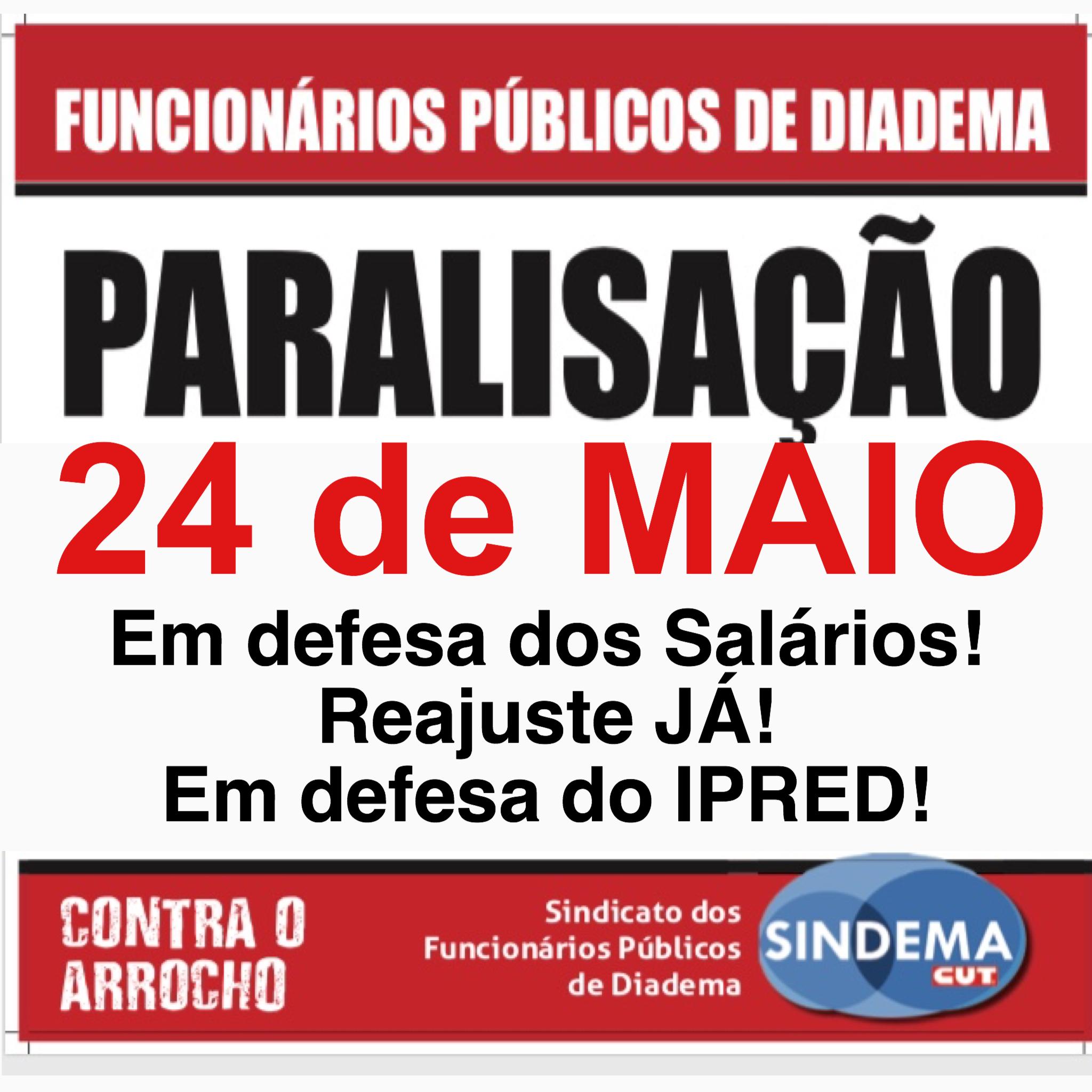 Paralisação 24 de maio
