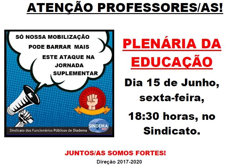 Plenária da Educação 15-06-2018
